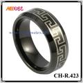 alta qualidade caber conforto ip black tungstênio faixas de casamento grego