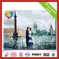 2014 la venta caliente telas de pintura sobre lienzo