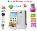 "ThL W3+ Android 4.0 4.5"" HD pantalla doble núcleo 1.0 GHz 3G 1GB RAM / 4GB ROM GPS 8MP teléfono Blanco"