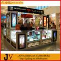 prateleira da loja expositor de vidro decoração de loja de perfumes