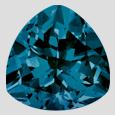 billones de forma de londres topacio azul de calidad superior piedras sueltas