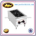 comercial contador de gas superior para cocinar gama con 2 quemadores