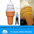 DC07 caliente! 13 'Cream globo Publicidad Kits 4m inflables luminosos encendidos hielo Promoción de reparación y sopladores