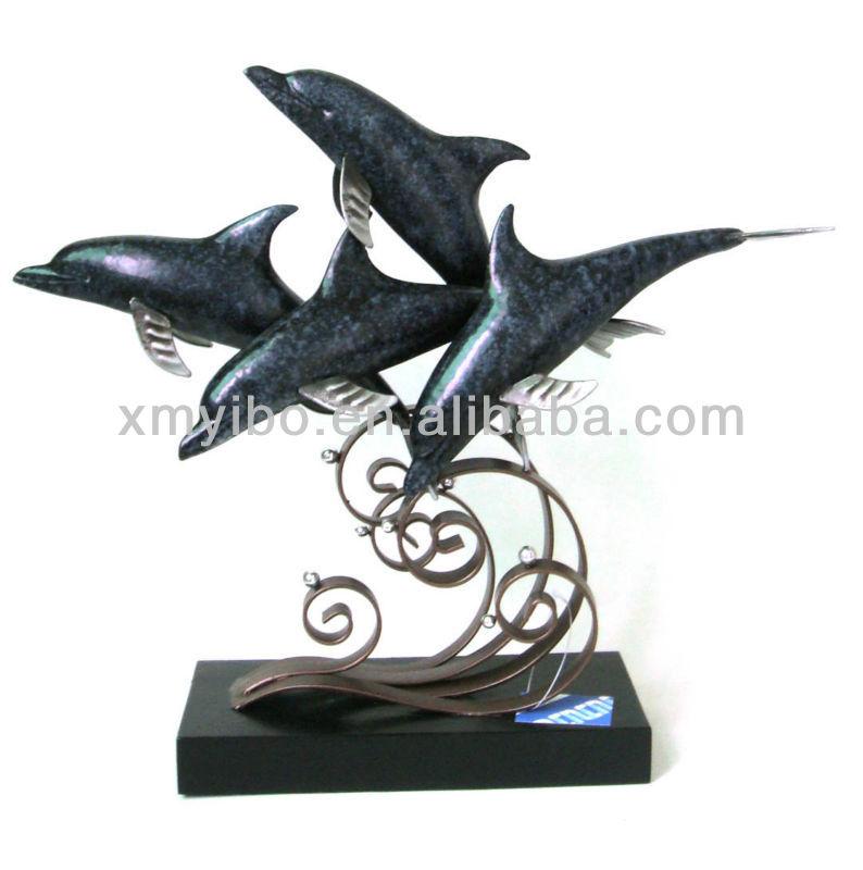 arte del metal del delfín para la decoración casera