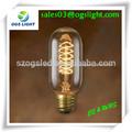Vintage bombilla de edison de decoración para el hogar de iluminación/bombilla incandescente de luces de edison