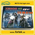 Mini moto hid faróis projetor fábrica preço h6m/ba20d/h4/h7 6000k/8000k 35w/55w farol