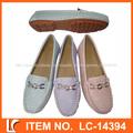 lazer corte estilo plano hembra suela pu zapatos hechos a mano