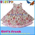 Nova chegada Styled saia de algodão com gaze criança camada meninas vestidos vestidos de verão 2014