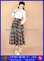 nuevo diseño de dama casual la red falda flare
