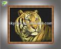 tigre de pintura al óleo sobre lienzo para la decoración