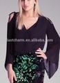 la marca de moda de calidad de gasa blusa de mujer