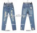 802( dxq) 2014 mejor caliente venta de damas al por mayor amigo chico pantalones vaqueros estilo