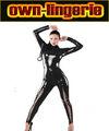 Negro atractivo Catsuit Mujeres maduras