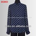 2014 modelos de blusas de chiffon mangas compridas