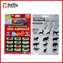 interesante mini juguete de cápsula de esponja y gelatina para niño(animal salvaje)