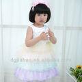 A LA VENTA! 2013 nuevas de la manera del arco iris princesa del verano del bebé vestidos de niña de 1-4y