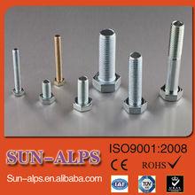 din931 de alta calidad de acero inoxidable de cabeza hexagonal tornillo estándar