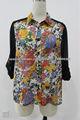2014 nueva gasa de la camisa de la señora floral blusa estampada estilo