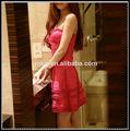 vendaje de vestir de fábrica al por mayor de moda de color rojo las señoras sexy vestido de noche 2014