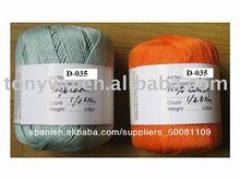 de algodón de hilo de tejer