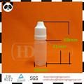 Oz 1/3 gotero botella de plástico pe botellas cuentagotas larga punta delgada botella del pe tapa a prueba de niños