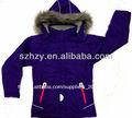 Yong dame. femmes veste d'hiver avec capuche en fourrure