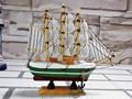16cm tallada antiguo modelo de barcos de pesca