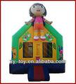 Dora inflable rebote casa, mini dora castillo saltar