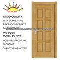 Non-pintura puerta interior con la laminación del PVC SC-P001