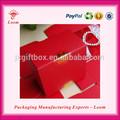 popular rojo dulce de papel cajas de regalo para la boda