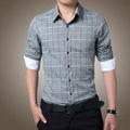 2014 onsale doble- botonadura chino estilo de camisa de los hombres