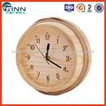madeira de pinho sauna relógio da sala de sauna