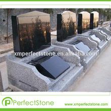 lápidas y monumentos grave decoraciones de granito negro de shanxi
