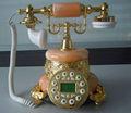telefone modelo antigo mármore antigo telefone telefone Vintage com Jade Material MS - 2200B
