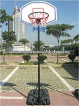Soporte ajustable del baloncesto callejero con plaza