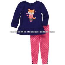 niñas ropa con volantes conjunto con estiramiento legging