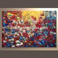 venta al por mayor decoración de la pared arte foto pintura de flores para la tienda
