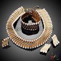 indio joyas zirconia cúbico collar novia joyas al por mayor china