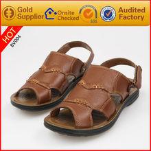 Baratos de playa sandalias Hombres de cuero zapatos sandalia