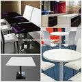 de alta calidad de la resina artificial de acrílico mabel muebles modernos mesa de comedor mesa de comedor para el hogar