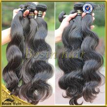 El estilo de belleza 6a 100% reina la onda del cuerpo sin procesar de pelo indio virgen