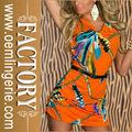 Precio barato Vestido estampado de boutique, tienda de vestido para las mujeres