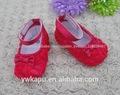 nuevo diseño de tela de algodón zapatos de bebé rosette zapatos de bebé para la venta