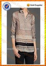 Las mujeres blusa 2014/de alta calidad de las mujeres blusa 2014/gasa blusa de las mujeres camisa/mujer manga larga blusa 2014