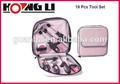 Hl-12240 19 piezas de alta calidad para damas de color rosa a mano conjunto de herramientas