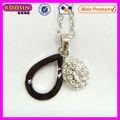 Collar de decoración en forma de óvalo diamante colgante #13407