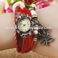 rosa flor colgante reloj de pulsera