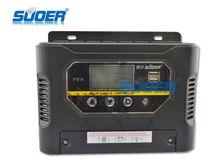 suoer 2014 inteligente regulador solar 12v 50a solar regulador de carga solar pwm controlador