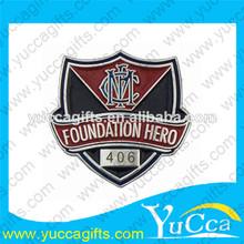 Personalizado escuela insignia/la escuela insignias pin/niños pin placas