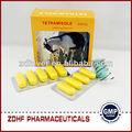 parásito de drogas 600mg tetramisole hcl tablet del fabricante